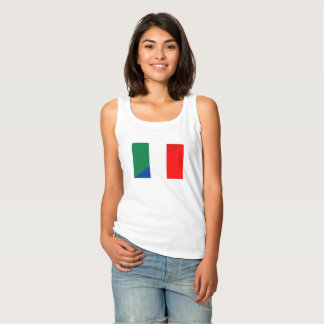 italy france flag country half symbol tank top