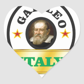 italy galileo heart sticker