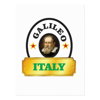 italy galileo postcard