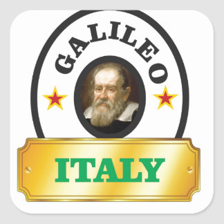 italy galileo square sticker