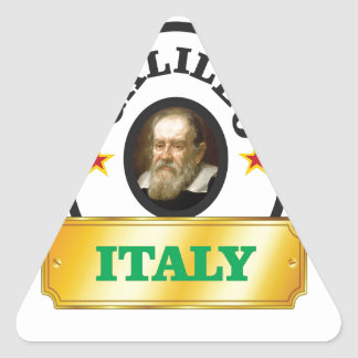 italy galileo triangle sticker