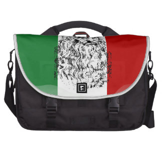 Italy glossy flag commuter bags