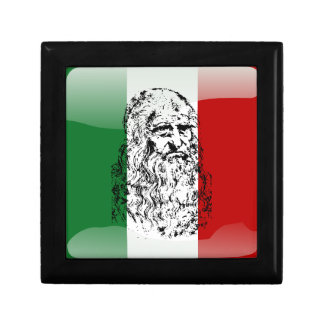 Italy glossy flag jewelry box