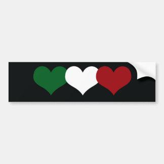 Italy Heart Bumper Sticker