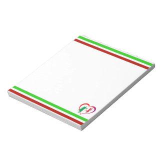 Italy heart notepad