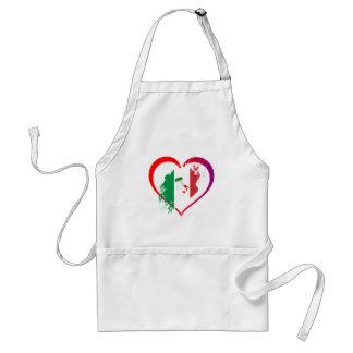 Italy heart standard apron