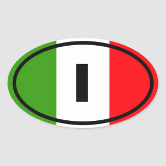 Italy - I - European Oval Sticker
