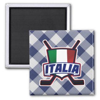 Italy Ice Hockey Flag Logo Magnet
