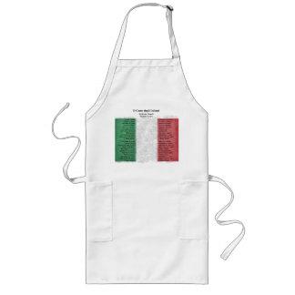 Italy - Il Canto degli Italiani Long Apron