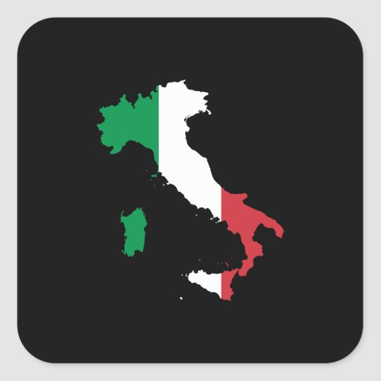 Italy in Italian Colours Square Sticker