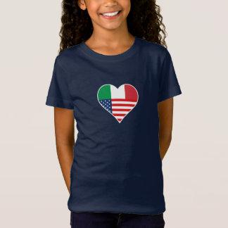 Italy, Italia - America, the USA. Heart, Country T-Shirt