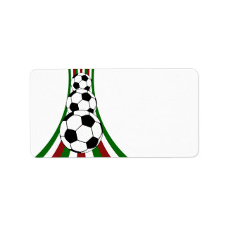 Italy italia calico football soccer personalized address labels