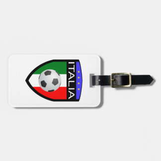 Italy / Italia Flag Patch - with soccer ball Luggage Tag