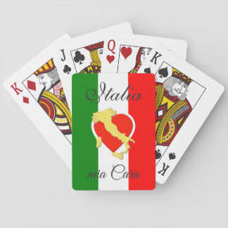 Italy Italia Italian Flag Initials Gold Country Playing Cards