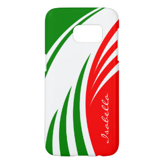Italy Italian Flag Design with your Name Samsung Galaxy S7 Case