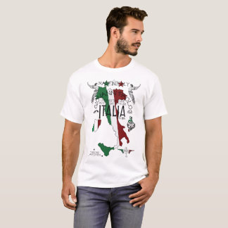 italy italian flag fun family love food life kids T-Shirt