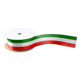 "Italy Italian Italia Flag Tricolore Design 1,5"" Satin Ribbon"