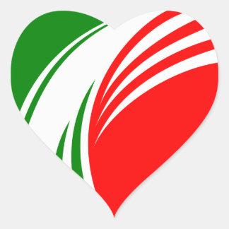 Italy Italian Italia Flag Tricolore Design Heart Sticker