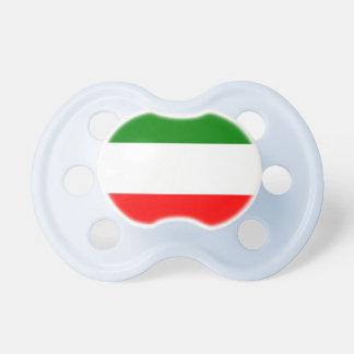 Italy Italian Italia Flag Tricolore Design Pacifiers