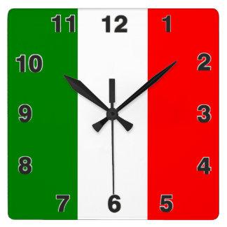 Italy Italian Italia Flag Tricolore Design Wall Clock