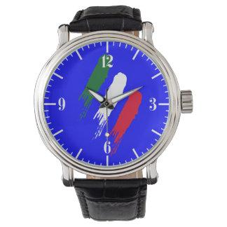 Italy Italian Italia Flag Tricolore Design Watch