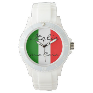 Italy Italian Italia Flag Tricolore Design Watches