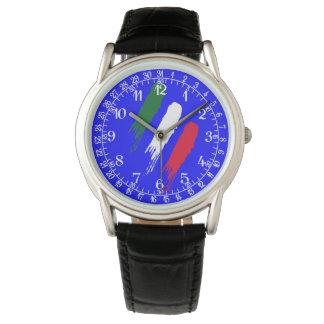 Italy Italian Italia Flag Tricolore Design Wristwatch