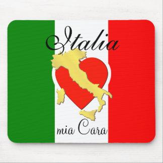 Italy Italian Italia Heart Tricolore Gold Country Mouse Pad