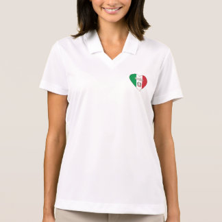 Italy ITALY Souvenir NATIONAL FLAG in heart Polo Shirt