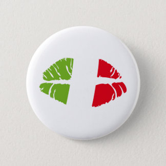 italy kiss 2 inch round button