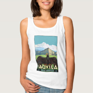 Italy L'Aquila Restored Vintage Travel Poster Tank Top