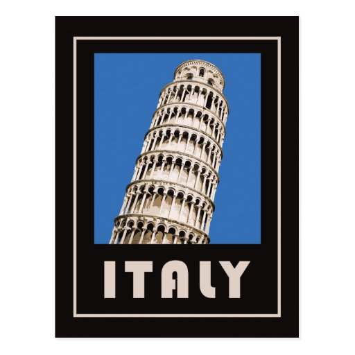 Italy leaning tower of Pisa Postcards