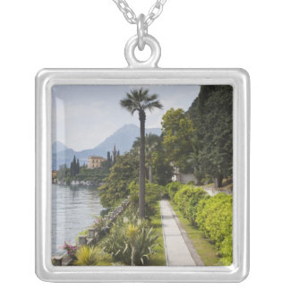 Italy, Lecco Province, Varenna. Villa Monastero, Silver Plated Necklace