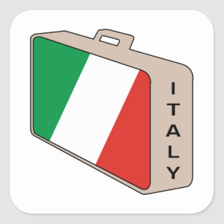 Italy Luggage Square Sticker