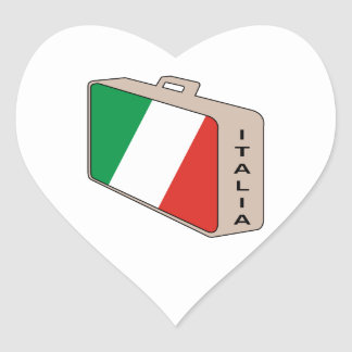 Italy Luggage Heart Sticker