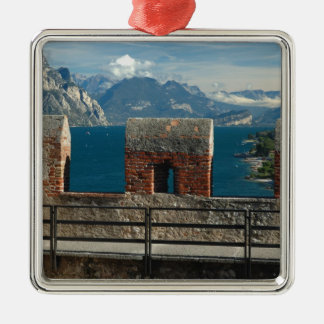 Italy, Malcesine, view from castle of Lake Metal Ornament