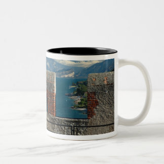 Italy, Malcesine, view from castle of Lake Two-Tone Coffee Mug