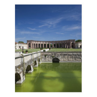 Italy, Mantua Province, Mantua. Courtyard, Postcard