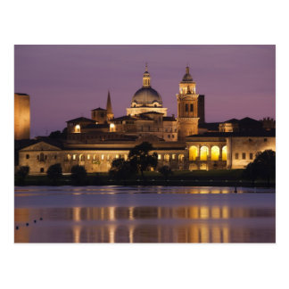 Italy, Mantua Province, Mantua. Town view and Postcard