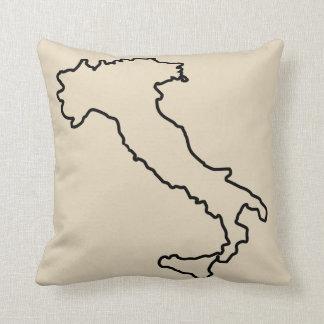 Italy Map Boot Throw Pillow