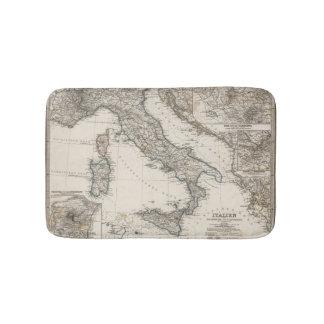 Italy Map by Stieler Bath Mat