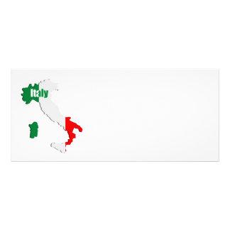 Italy map custom rack card