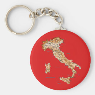 Italy Map Keychain
