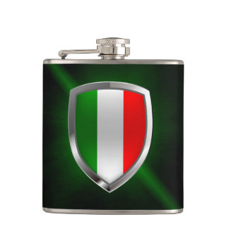 Italy Metallic Emblem Flask