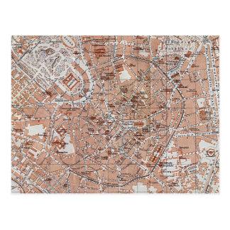 Italy - Milan City Map Postcard