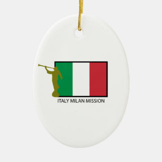 ITALY MILAN MISSION LDS CTR CERAMIC OVAL ORNAMENT