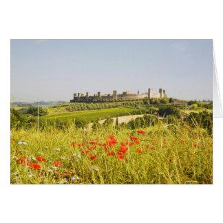Italy, Monteriggioni, Field View of Card