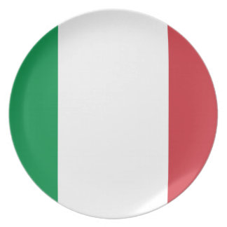 Italy National World Flag Plate