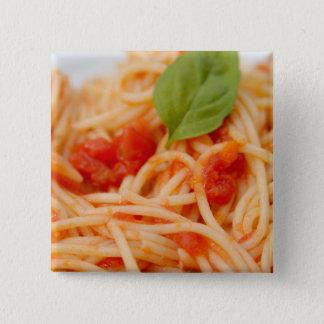Italy, Orta, Lake Orta, spaghetti with tomato 2 Inch Square Button