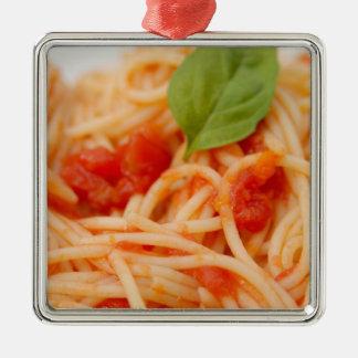 Italy, Orta, Lake Orta, spaghetti with tomato Metal Ornament
